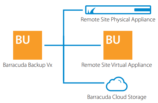 Barracuda Backup Vx has built-in cloud and site-to-site replication.